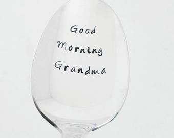 Custom Spoon / Good Morning / Personalized Spoon / Sersonalized Gift / Engraved Spoon / Stamped Cutlery / Teaspoon / Something Unique