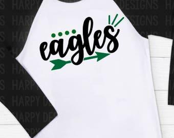 Eagles SVG, Football SVG, Football T-shirt Design, Cricut Cut Files, Silhouette Cut Files