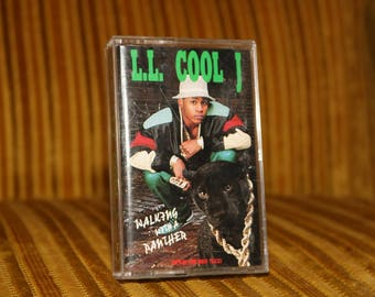 LLCOOLJ Panther 1989 Vintage Old School Walking Like A Cassette Boombox Ghetto Blaster Tape LL Cool J for Radio 1980s Less Than Zero