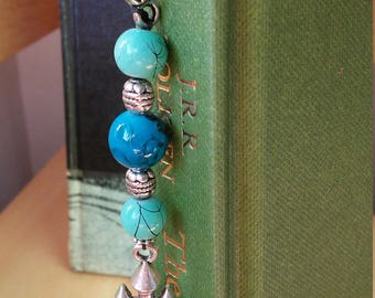 Silver Castle Bookmark w/ Glass Beads