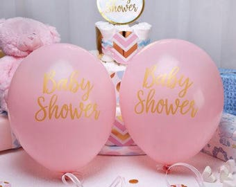 """Balloons pink """"Baby Shower"""""""