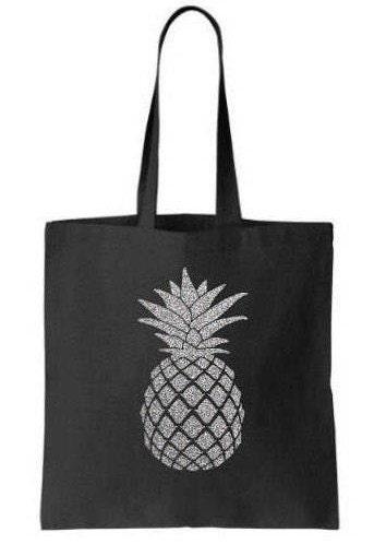 Gold Glitter Pineapple Tote Bag Bachelorette Gift