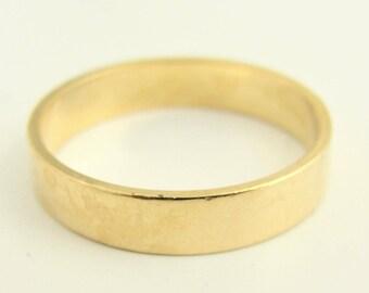 Vintage Mens Wedding Band- 14k Yellow Gold