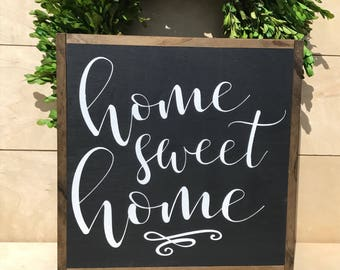 Home Sweet Home Sign; Farmhouse Decor; Welcome Sign; Rustic Wood Sign; Housewarming Gift; Galley Wall Sign; Gallery Wall Decor