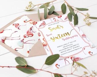 Printable Envelope Liner A7 Envelope Liners Flamingo Envelope Liner Instant Download Wedding Party Invitations Summer Envelope Liner PDF