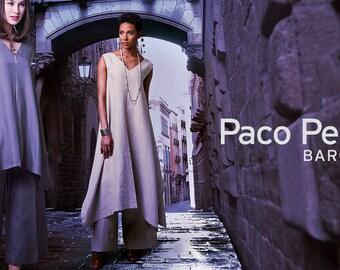 Sewing Pattern Misses PULLOVER TUNIC w/ Uneven Hem & Wide-Leg PANTS, Vogue Pattern 1550, Paco Petalta Barcelona, Vogue Designer Original