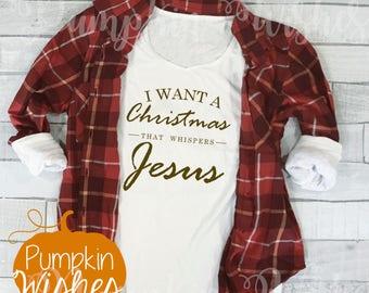 Christmas with Jesus/Christmas Whispers/Christmas Long Sleeve/Reason for the Season