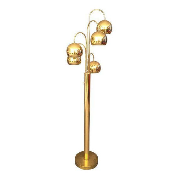 Mid-Century Multi brass Light Sphere Floor Lamp