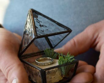 Wedding ring box Holder for rings Proposal box Engagement ring box Ring bearer box Jewelry box Geometric ring box Marry me box Rings holder