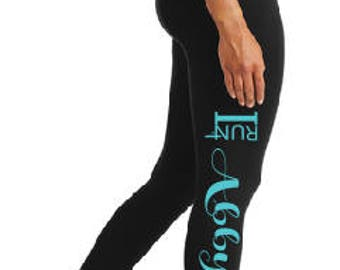 IR4 Ladies Black Performance Workout Leggings