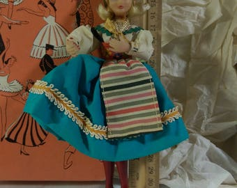 """7"""" Swedish Woman by the Flagg Doll Company"""
