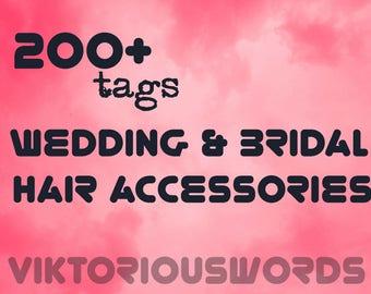 Wedding Shop SEO Keywords for Bridal Hair Accessories Crowns Keywords Bride Hair Pins Title Search Result Optimization Wedding Tags Keywords