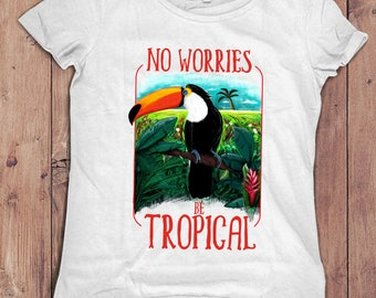 Tropical Toucan | women tshirt for summer holidays