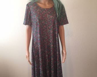 90s Handmade Floral Maxi Dress NOW 60% OFF!