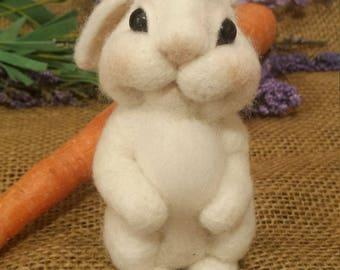 Felted wool Bunny