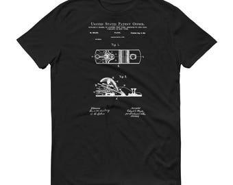 1901 Wood Plane Patent T-Shirt - Woodworking Shirt, Tool Shirt, Patent Shirt, Antique Tools, Vintage Tools, Wood Plane Shirt, Carpenter Gift
