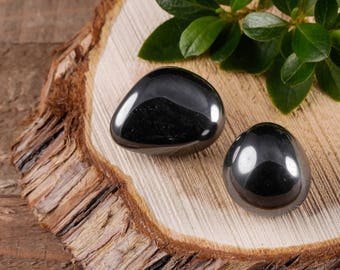 Two Medium HEMATITE Tumbled Stones - Hematite Stone, Hematite Crystal, Healing Stone, Healing Crystal, Rocks and Gems Rocks & Minerals E0510