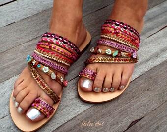 Magenda Sandals, Leather sandals, Greek Sandals, bohemian shoes,  sandals, Summer shoes, Women's Shoes,  leather shoes, boho sandals