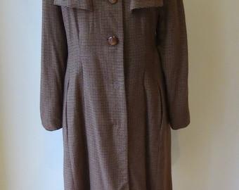 1970s does 1940s wool coat/ 1970s winter coat/ vintage coat