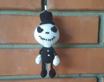 halloween gift plush toy jack skellington nightmare before christmas ornament charm halloween decorations favors keychain Jack plush present