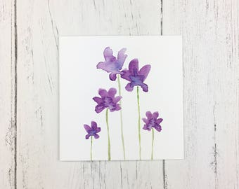Anemone Greetings Card  / Mothers Day Card / Invitation Card / Thank You Card / Card For Friends / Card for Family /  Card For Colleague