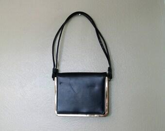 1960s Markay Shoudler Bag, Navy Blue