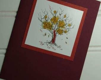 Handmade Autumn Greeting Card - Fall Card - Happy Fall - Happy Fall Y'all - Leaves - Where's the Rake? Handmade in Medina, Ohio, USA!