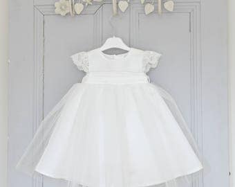 Christening Dress 'Holly' - Adore Baby - Baptism Dress - Baby Girl Baptism Dress - Baby Blessing Gown - Christening Gown - Baptism Gown