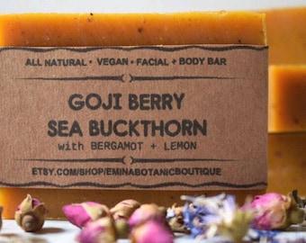 GOJI SEA BUCKTHORN Soap,All Natural Soap, Homemade Soap, Cold Process Soap, Soap,Soap Bar, Natural Bar, Soaps