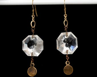 Chandelier Prism Glass Earrings