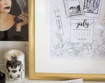 2018 Printable Calendar | Coloring Printable | Scent of the Day | Perfume-themed Calendar