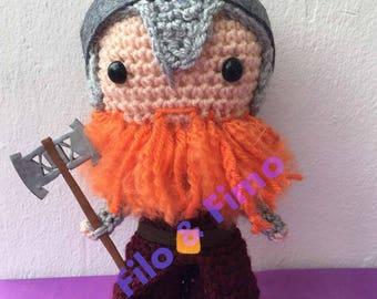 Gimli -The Lord of the Rings - Amigurumi Chibi Doll