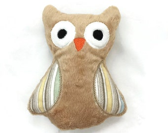 Owl Stuffed Toy, Owl Plushie, Owl Soft Toy, Plush Stuffed Animal, Baby Gift