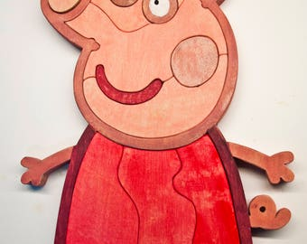 Peppa The Pig Puzzle 100% Handmade