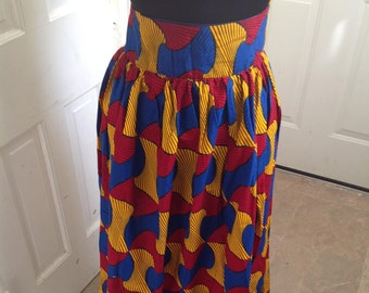 African Print Skirt, Ankara Maxi Skirt, Custom Made Skirt, Summer Maxi Skirt, African Print Skirt, Long Skirt, African Skirt Made to Order