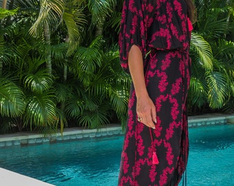 Manu Kaftan Dress, Caftan, Loose Dress, Tunic, Beach Coverups, Loungewear, 120-109