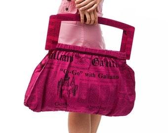John Galliano XXL printed bag