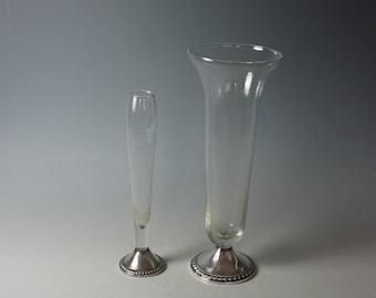 Pair of Sterling Vases