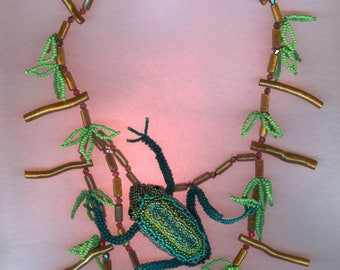 Poison Dart Frog with jungle necklace