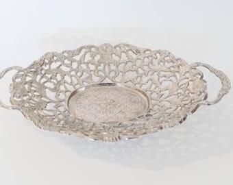 Silver ornate Basket