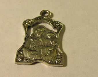 Silver Tone Metal Religious Charm Pendant for Jewelry Making, 1""