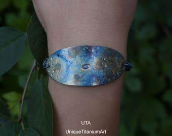 Oval Bracelet Space Jewelry Universe Jewelry Galaxy Jewelry Space Bracelet Nebula Jewelry Solar System Sky Jewelry OOAK jewelry Infinity Sky