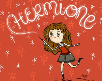 Hermione Granger Harry Potter Fan Art Illustration