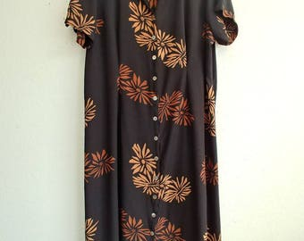 Vintage Boheme Folk Flower Dress
