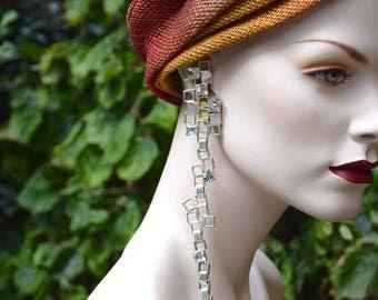 LANVIN 1980 Modernist Shoulder Dusters Earrings