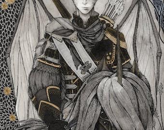 Dark Starry Knight Print Batman