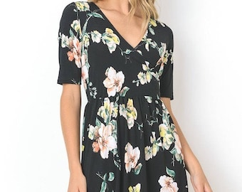 Floral Breastfeeding Dress