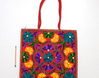 Handmade Ethnic Designer Tribal Banjara Patchwork Embroidered Hippy Fashionable Stylish Trendy Hippie Gypsy Boho Bohemian Shoulder Bag F349