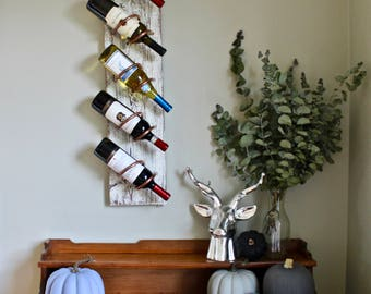 white washed wine rack wood gift wall mounted wine rack shabby chic