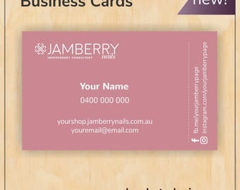 Rose Business Cards for Jamberry Nails - Digital PDF file - new branding, new logo